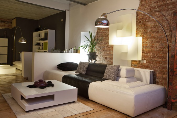 modern living room couch sofa lamp design interior